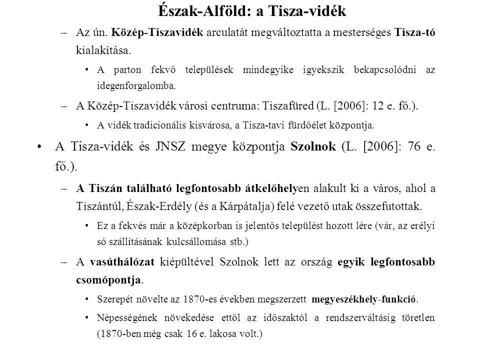 Észak-Alföld: a Tisza-vidék