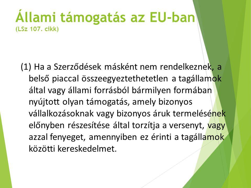 Állami támogatás az EU-ban (LSz 107. cikk)
