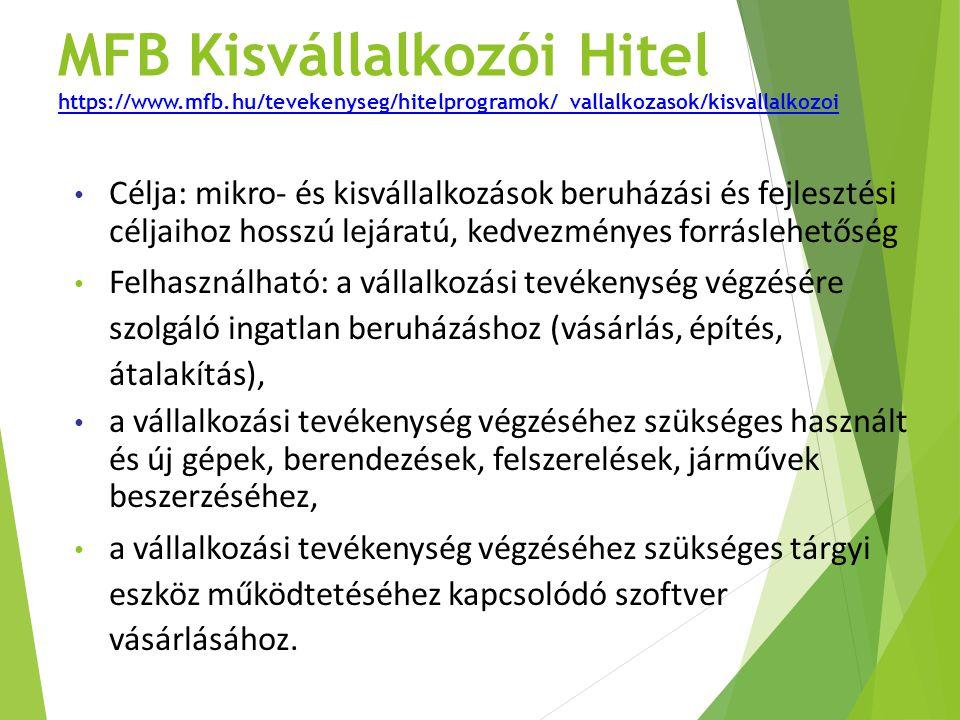 MFB Kisvállalkozói Hitel https://www. mfb