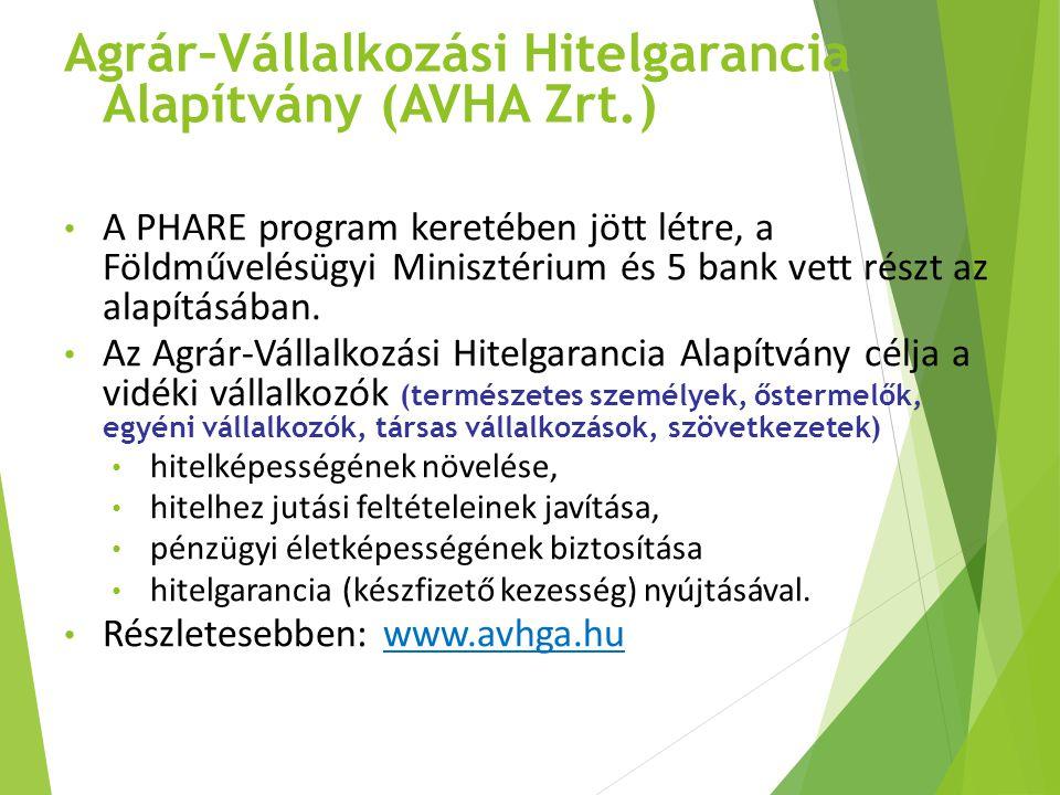 Agrár–Vállalkozási Hitelgarancia Alapítvány (AVHA Zrt.)