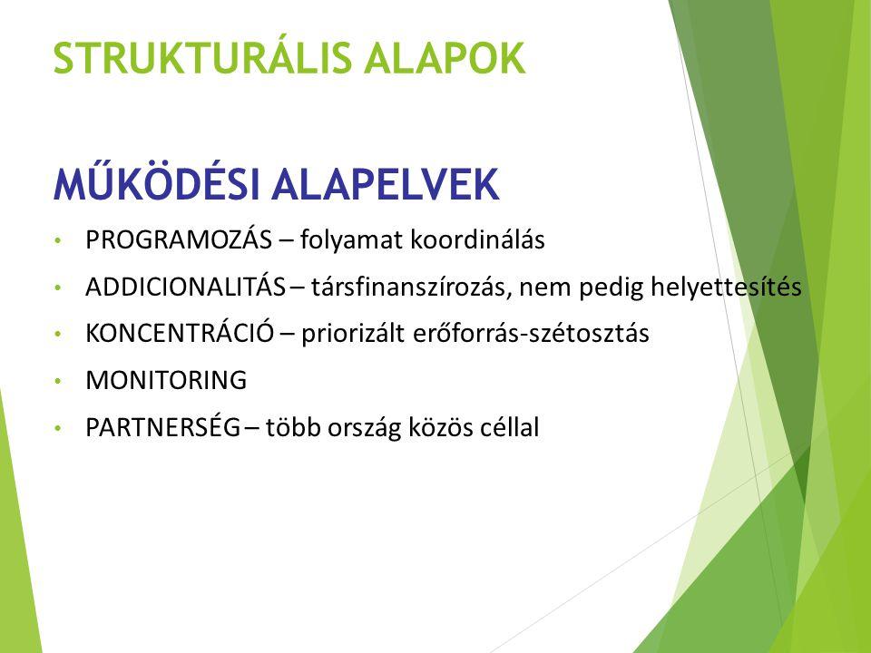 STRUKTURÁLIS ALAPOK MŰKÖDÉSI ALAPELVEK