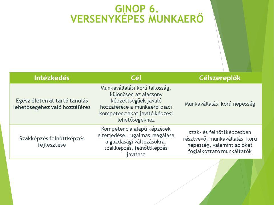 GINOP 6. Versenyképes munkaerő