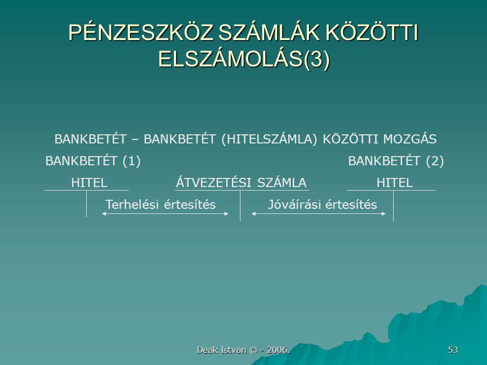 PÉNZESZKÖZ SZÁMLÁK KÖZÖTTI ELSZÁMOLÁS(3)