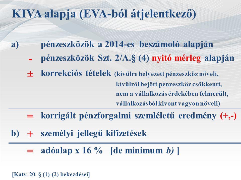 KIVA alapja (EVA-ból átjelentkező)