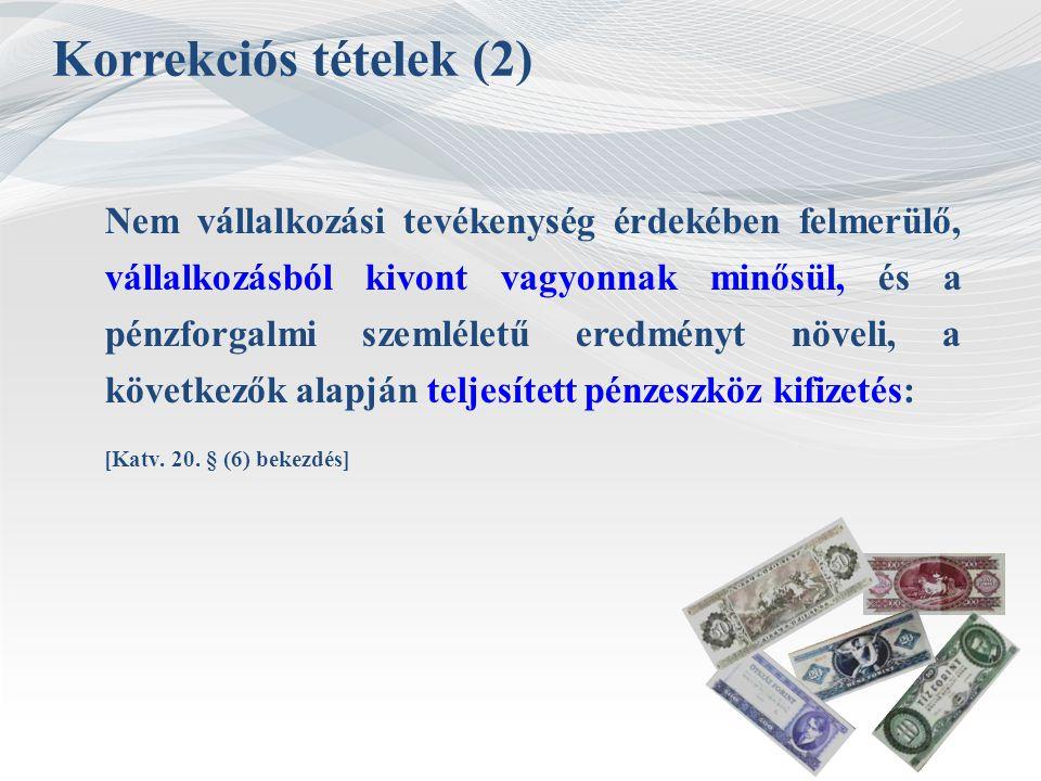 Korrekciós tételek (2)