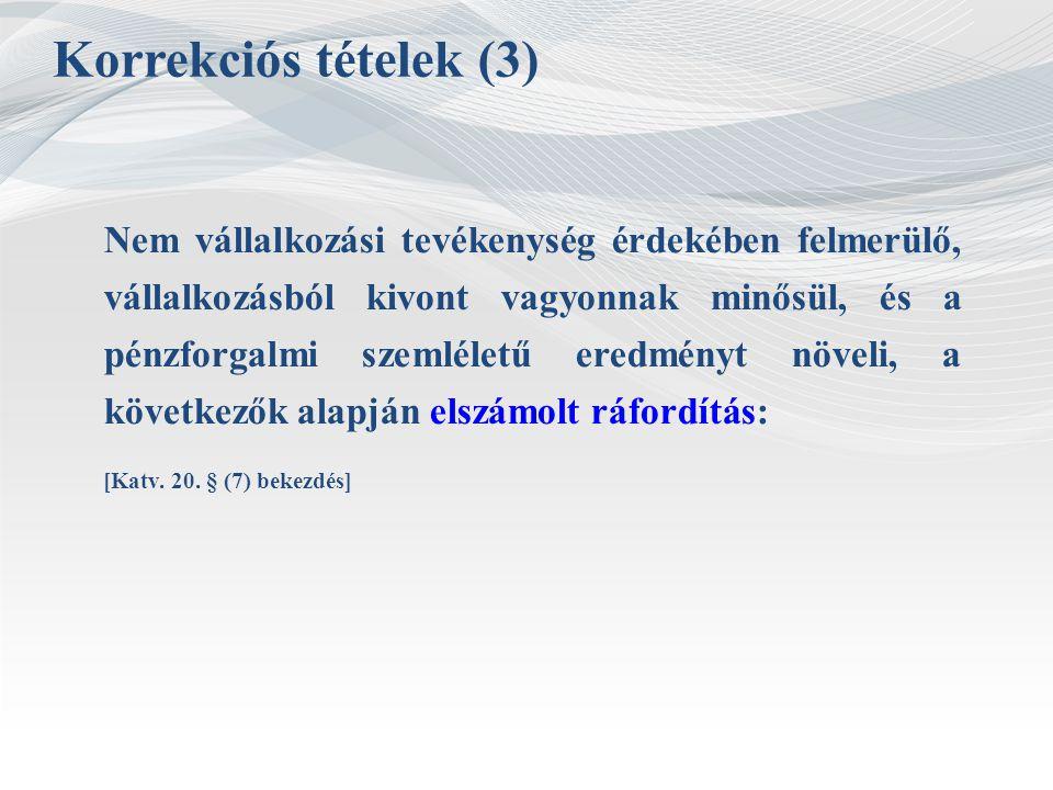 Korrekciós tételek (3)