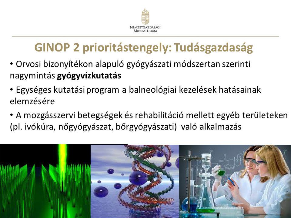 GINOP 2 prioritástengely: Tudásgazdaság