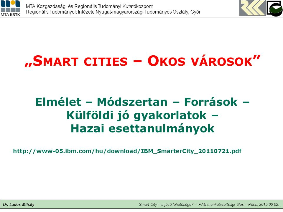 """Smart cities – Okos városok"