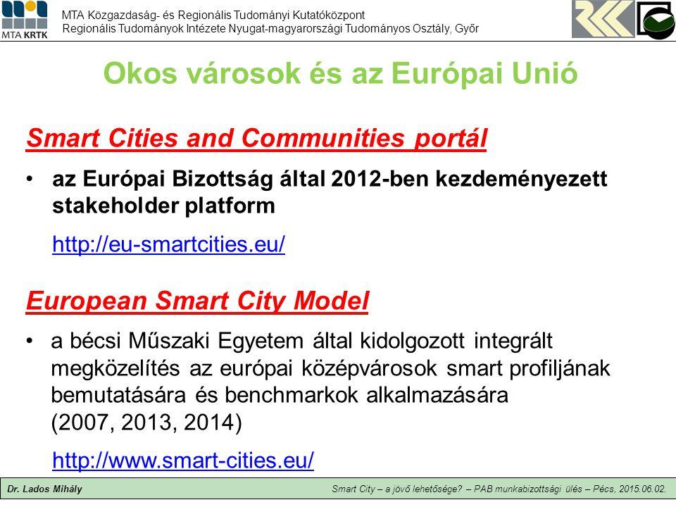 Okos városok és az Európai Unió
