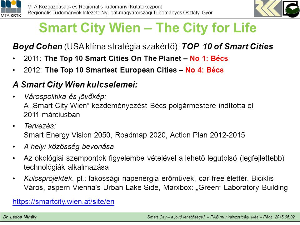 Smart City Wien – The City for Life