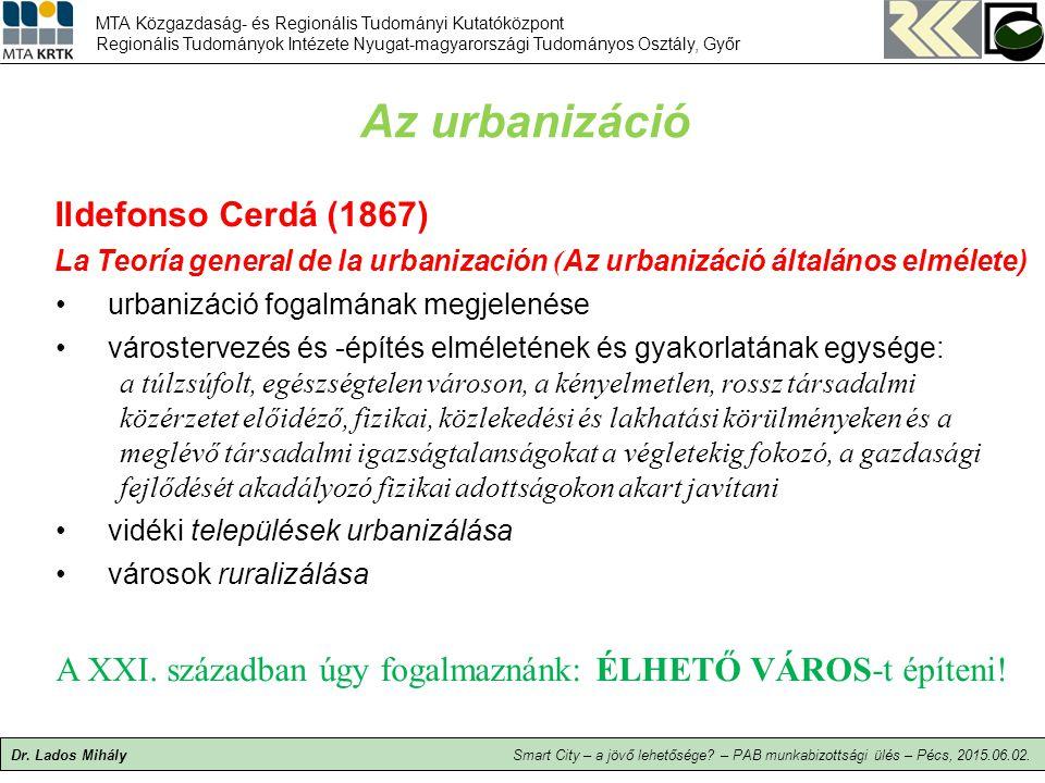 Az urbanizáció Ildefonso Cerdá (1867)