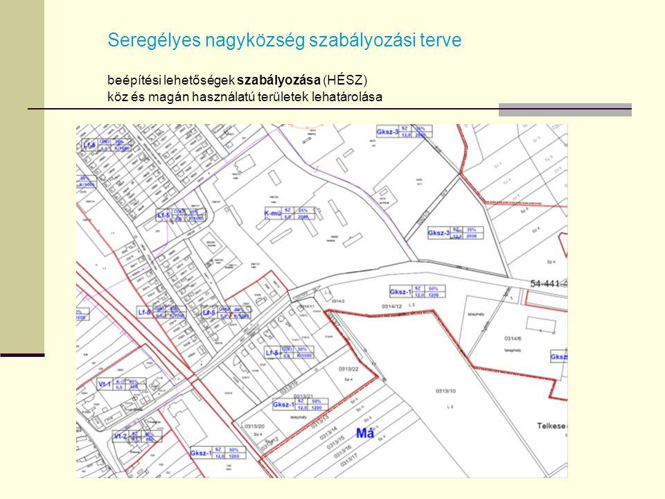 Seregélyes nagyközség szabályozási terve