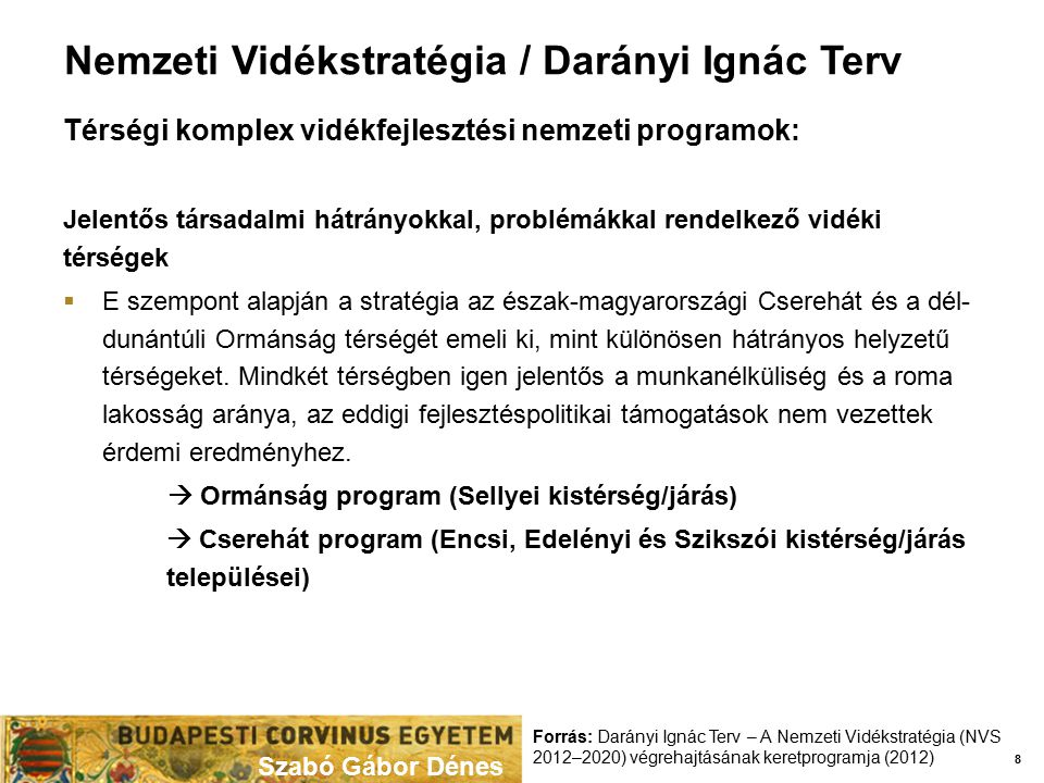 Nemzeti Vidékstratégia / Darányi Ignác Terv