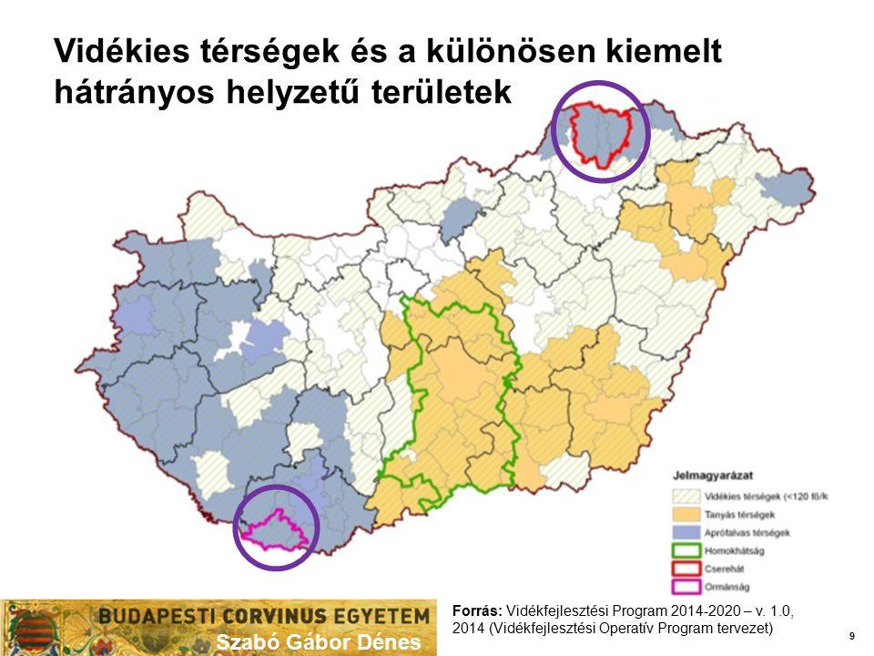 Vidékies térségek és a különösen kiemelt hátrányos helyzetű területek