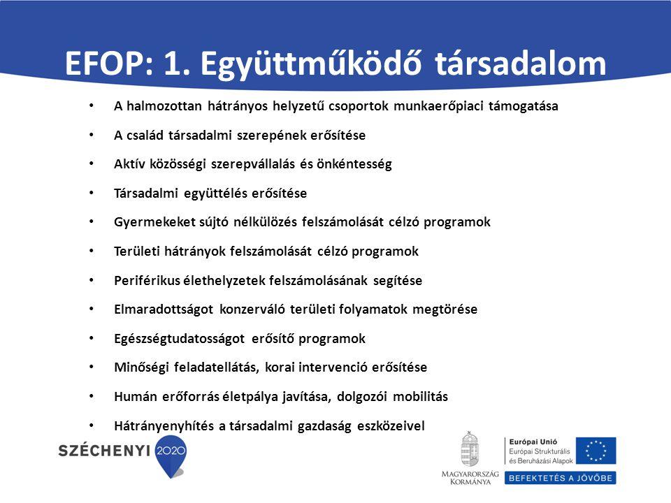 EFOP: 1. Együttműködő társadalom