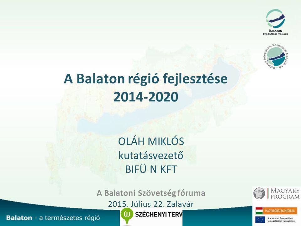 A Balaton régió fejlesztése 2014-2020