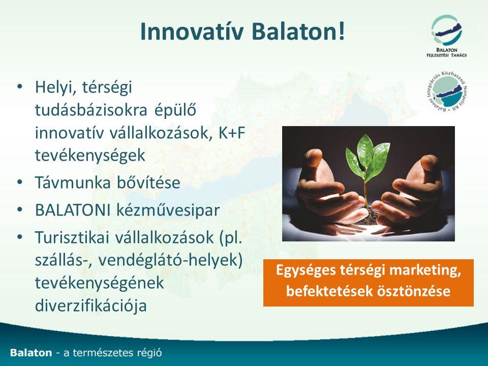 Egységes térségi marketing, befektetések ösztönzése