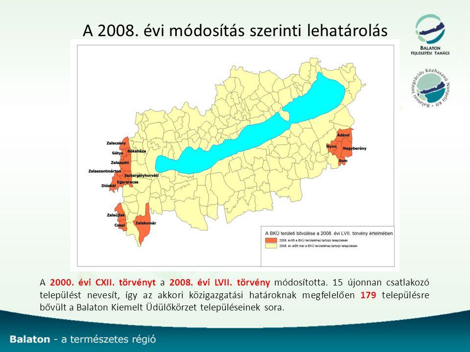 A 2008. évi módosítás szerinti lehatárolás