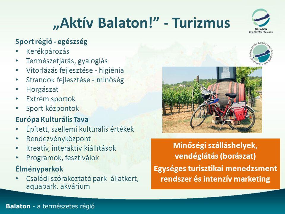 """""""Aktív Balaton! - Turizmus"""
