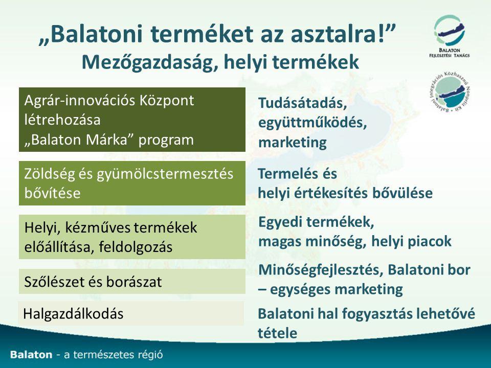 """""""Balatoni terméket az asztalra! Mezőgazdaság, helyi termékek"""