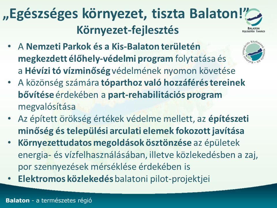 """""""Egészséges környezet, tiszta Balaton! Környezet-fejlesztés"""