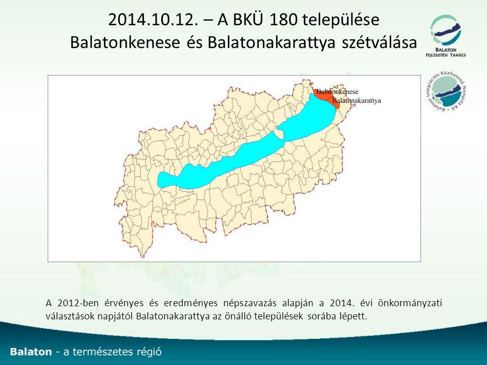 2014.10.12. – A BKÜ 180 települése Balatonkenese és Balatonakarattya szétválása