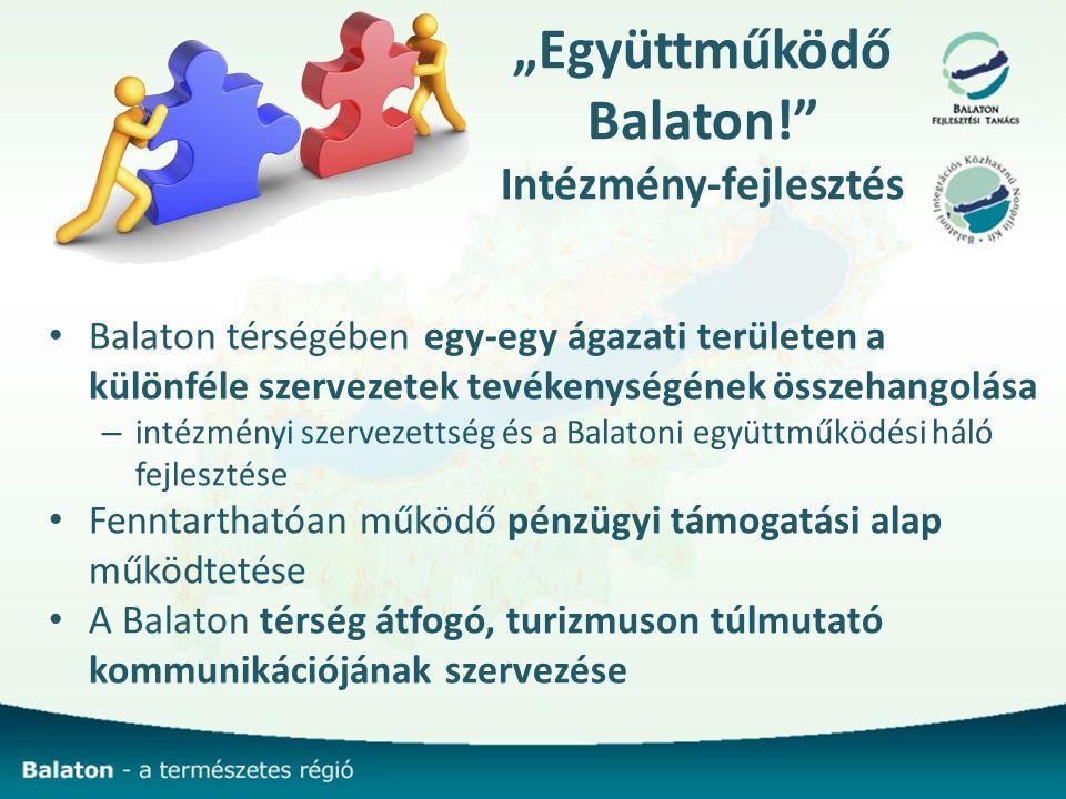 """""""Együttműködő Balaton! Intézmény-fejlesztés"""