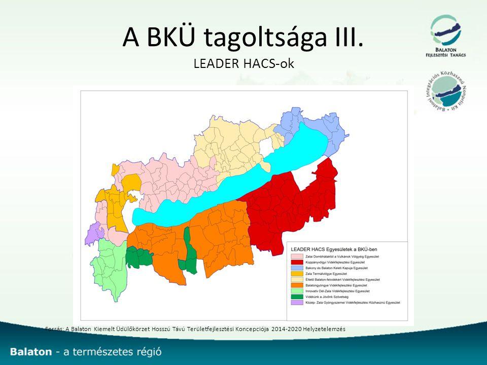 A BKÜ tagoltsága III. LEADER HACS-ok