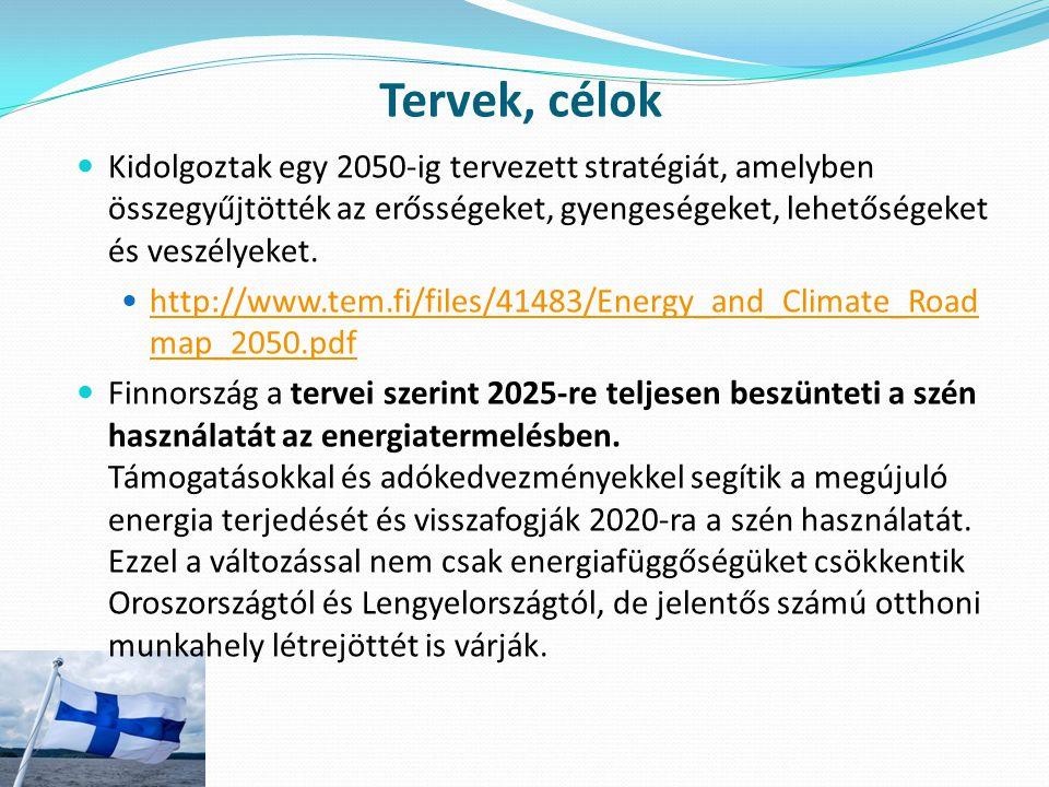Tervek, célok Kidolgoztak egy 2050-ig tervezett stratégiát, amelyben összegyűjtötték az erősségeket, gyengeségeket, lehetőségeket és veszélyeket.