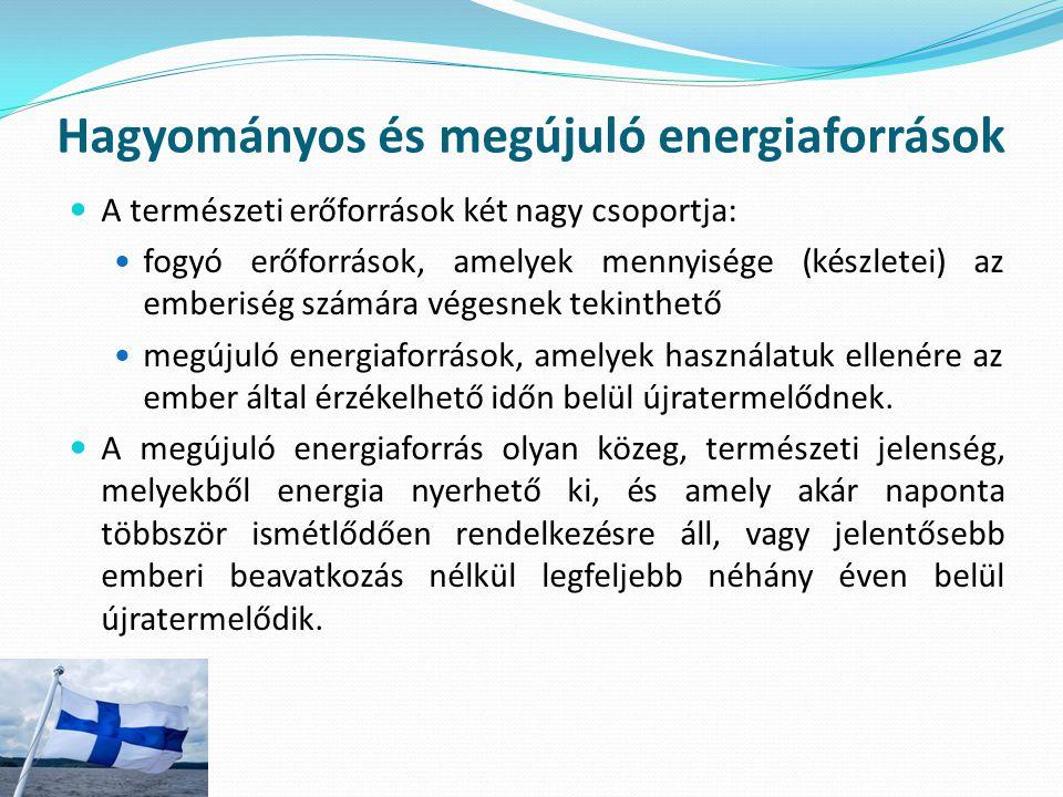 Hagyományos és megújuló energiaforrások