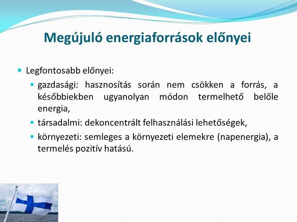 Megújuló energiaforrások előnyei