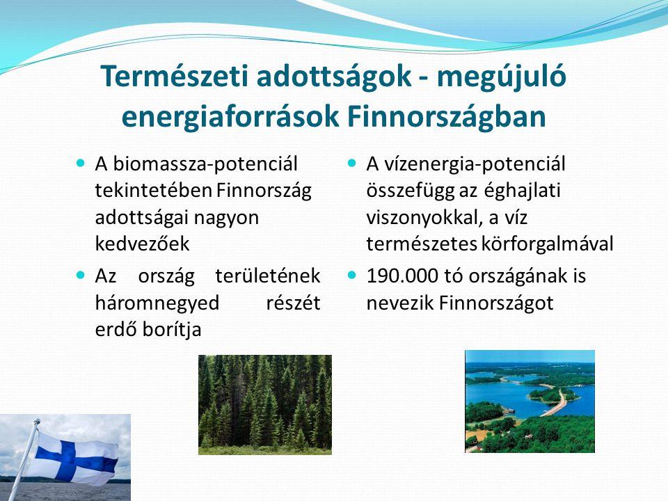 Természeti adottságok - megújuló energiaforrások Finnországban