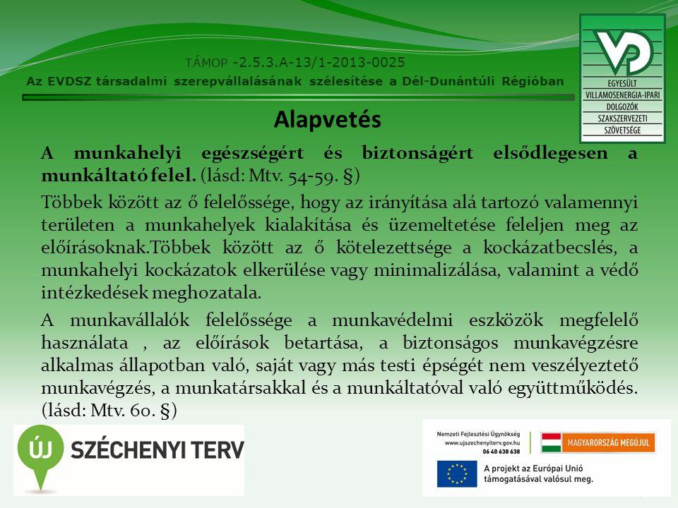 TÁMOP -2.5.3.A-13/1-2013-0025 Az EVDSZ társadalmi szerepvállalásának szélesítése a Dél-Dunántúli Régióban.