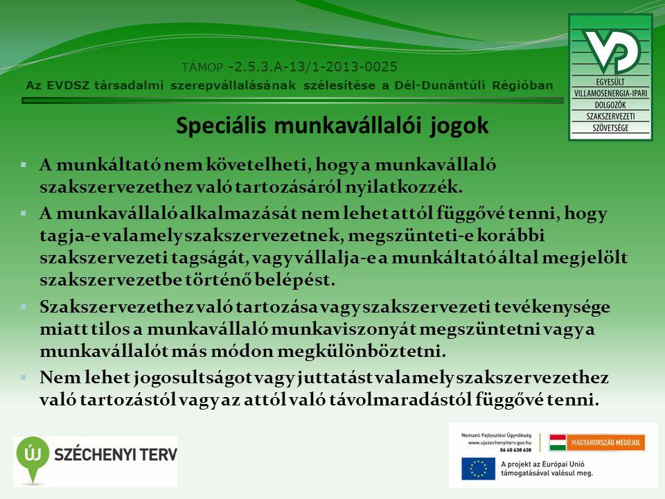 Speciális munkavállalói jogok