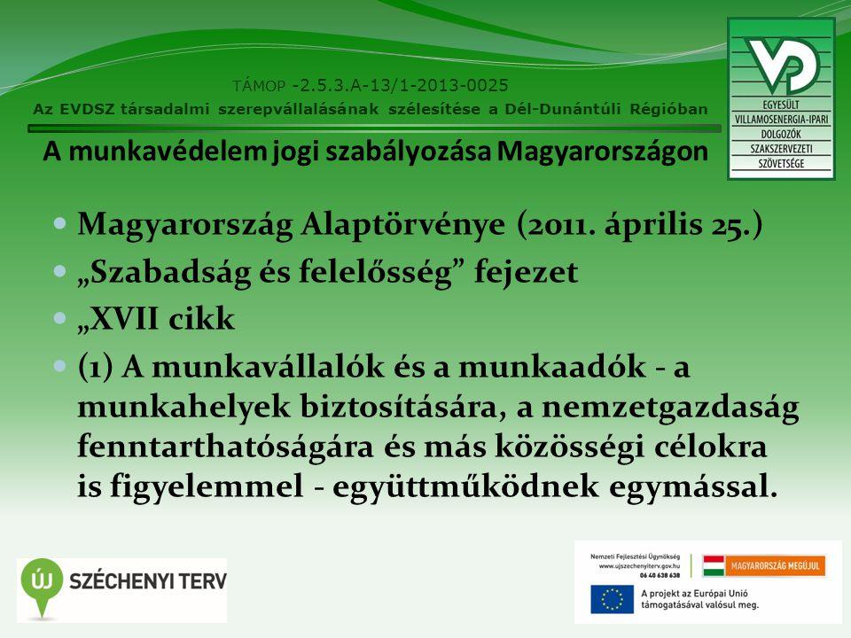 A munkavédelem jogi szabályozása Magyarországon