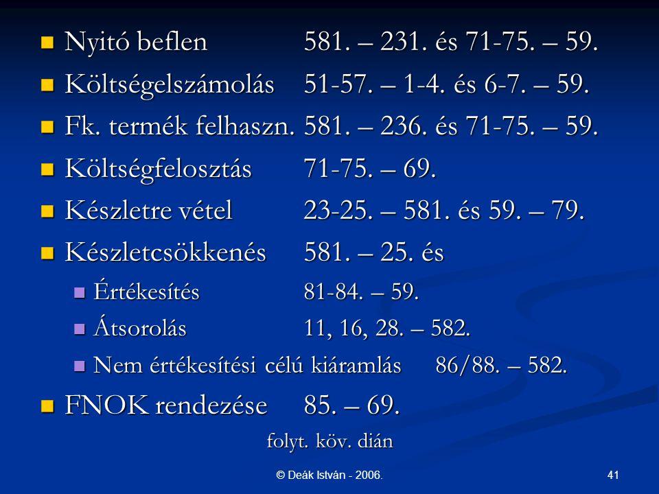 Költségelszámolás 51-57. – 1-4. és 6-7. – 59.