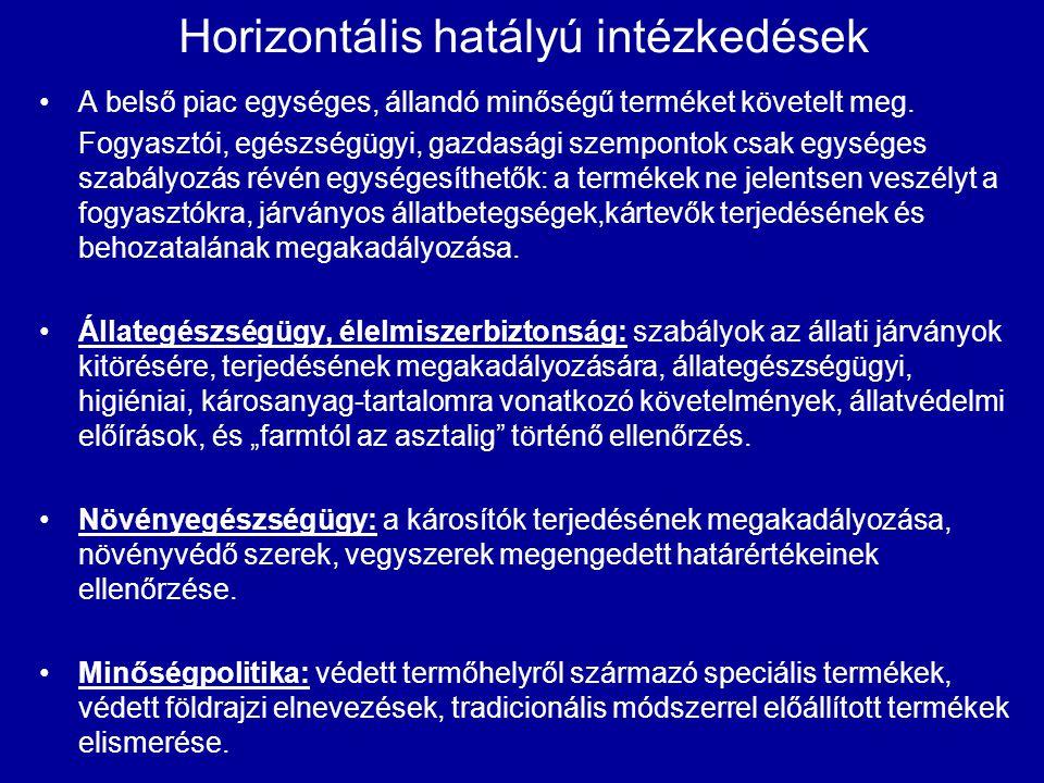 Horizontális hatályú intézkedések