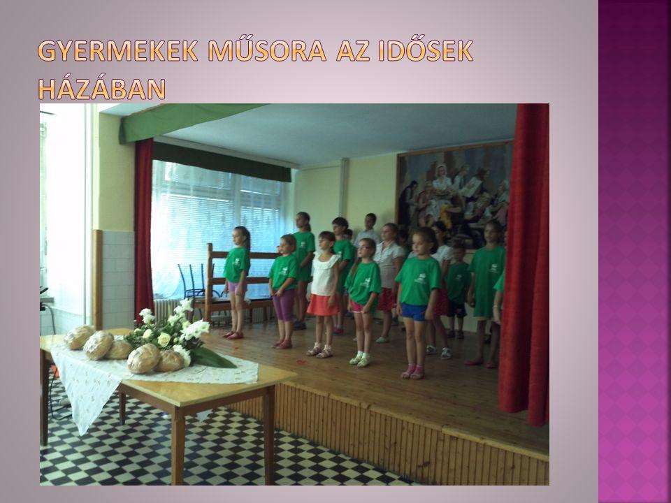 Gyermekek műsora az idősek házában