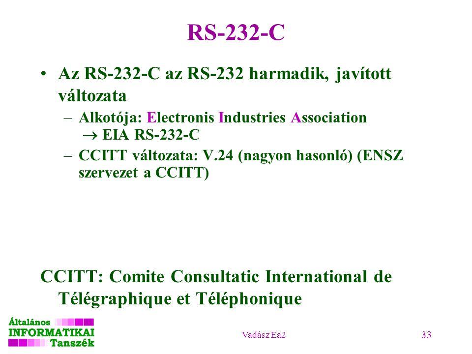 RS-232-C Az RS-232-C az RS-232 harmadik, javított változata