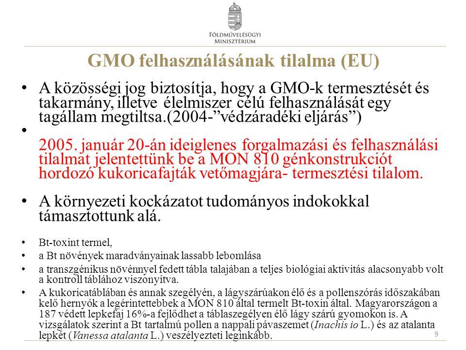 GMO felhasználásának tilalma (EU)