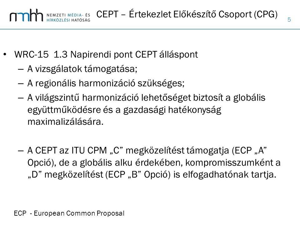CEPT – Értekezlet Előkészítő Csoport (CPG)