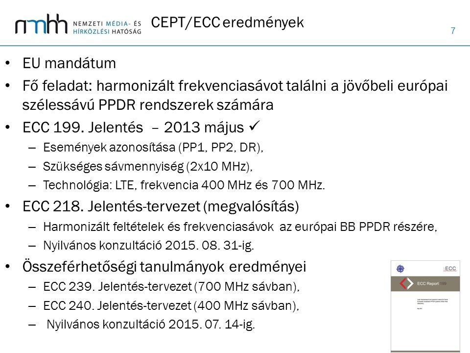 ECC 218. Jelentés-tervezet (megvalósítás)