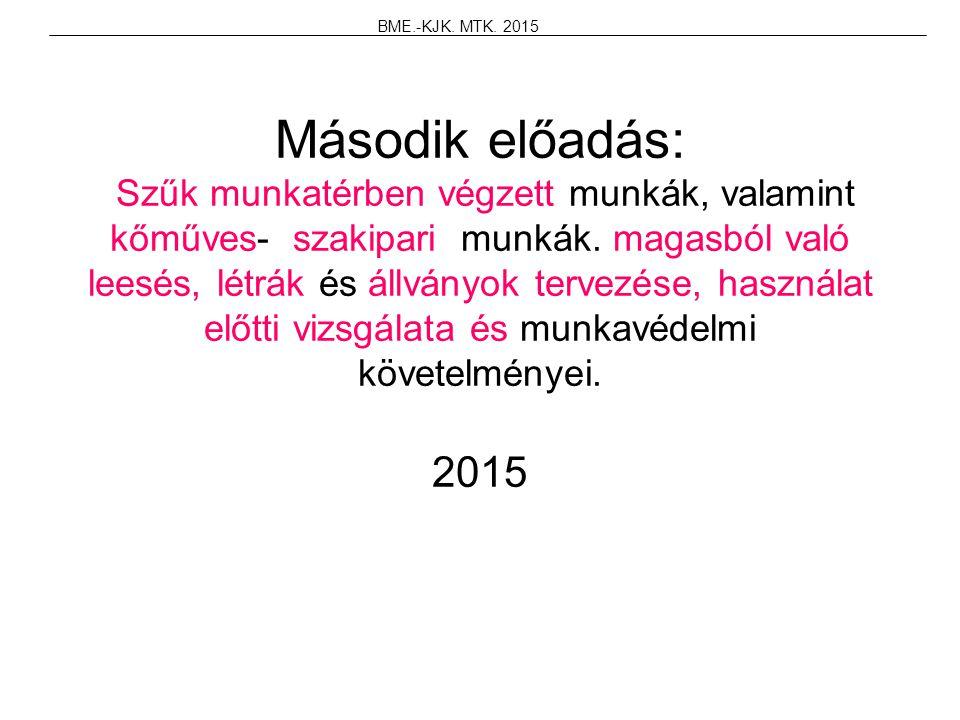 BME.-KJK. MTK. 2015