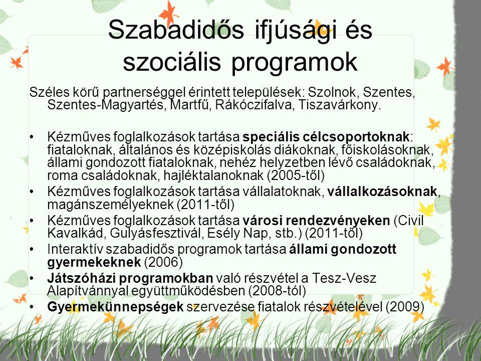 Szabadidős ifjúsági és szociális programok