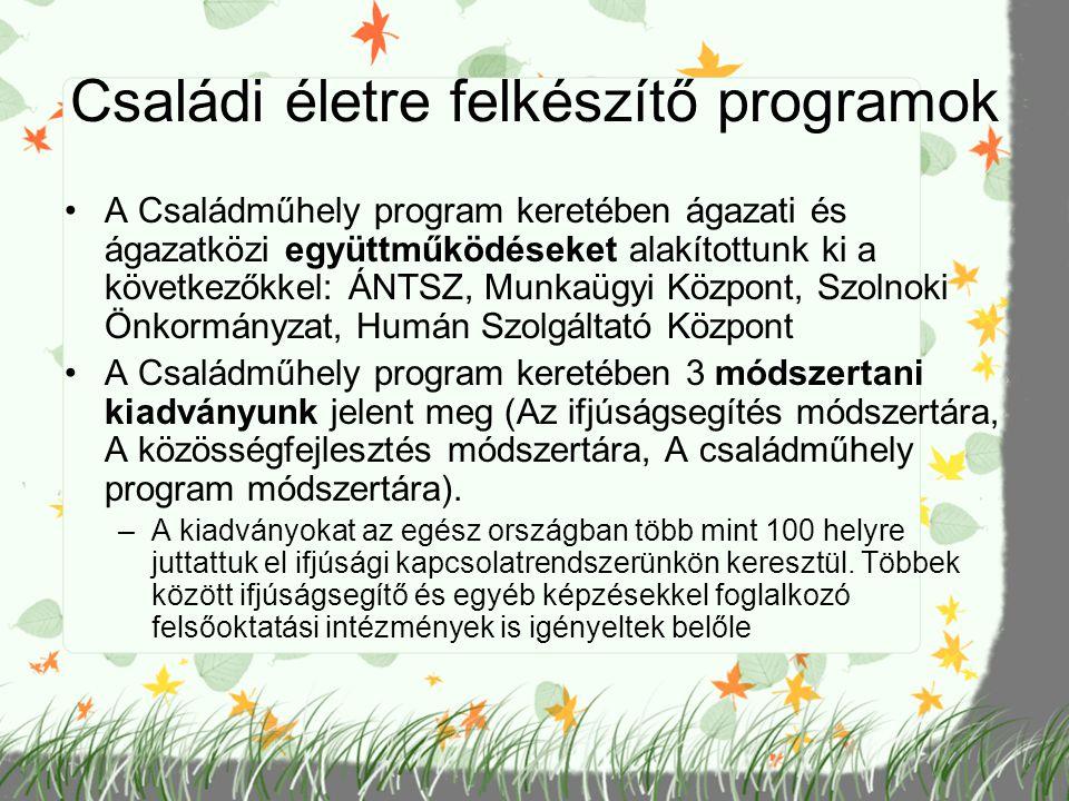 Családi életre felkészítő programok