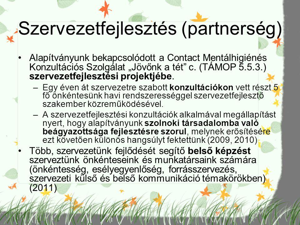 Szervezetfejlesztés (partnerség)
