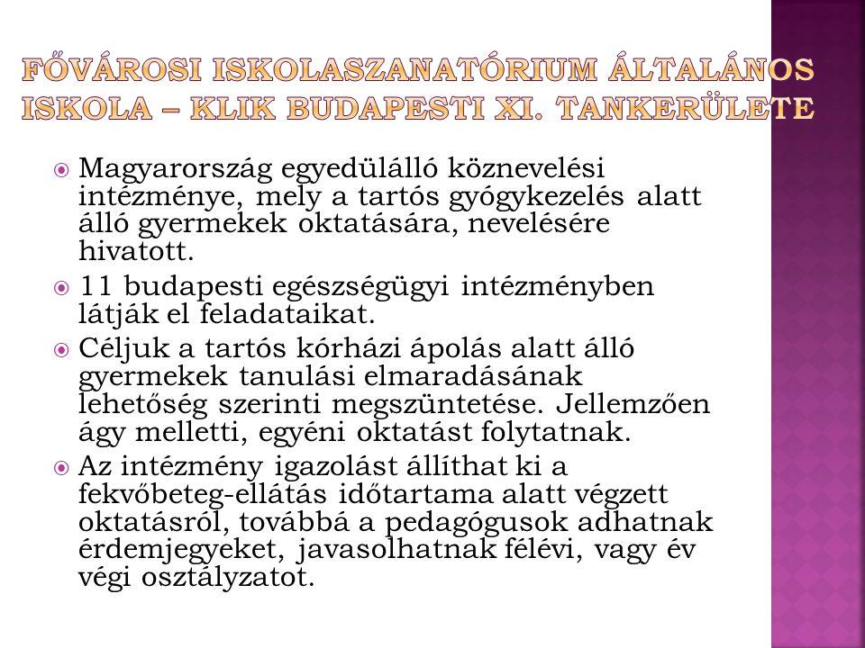 Fővárosi iskolaszanatórium Általános Iskola – KLIK budapesti xi