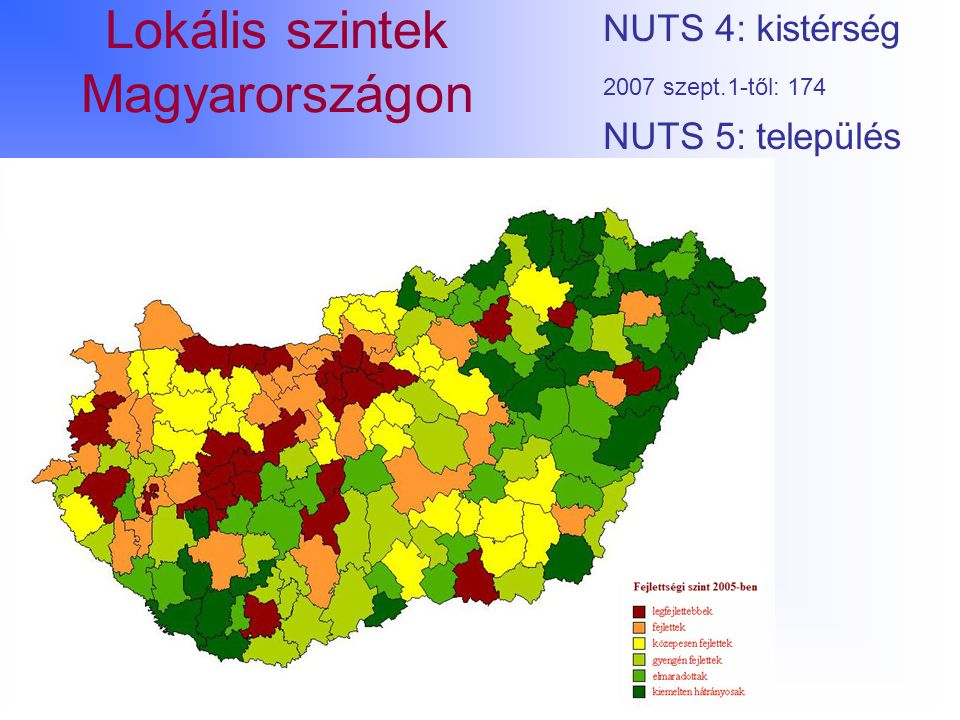 Lokális szintek Magyarországon