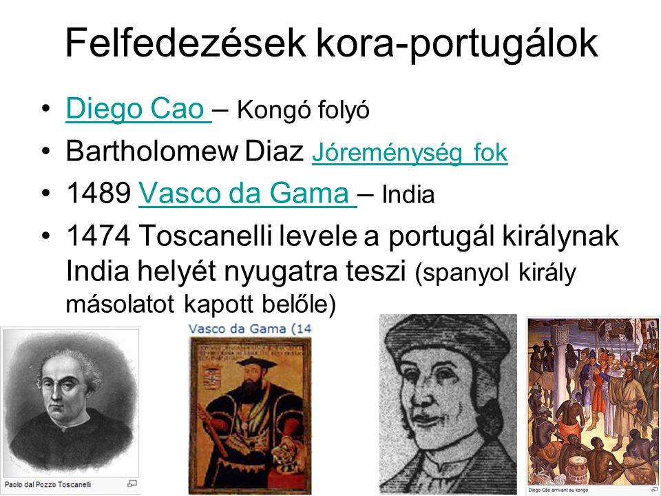 Felfedezések kora-portugálok