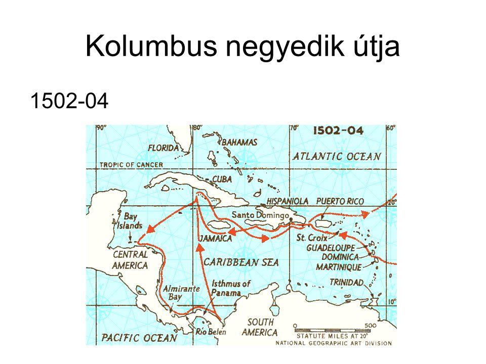 Kolumbus negyedik útja